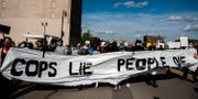Protester i Detroit. Nicole Hester / TT NYHETSBYRÅN