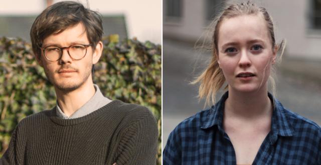 David Ling och Rebecka Forsberg, två av debattörerna. Grön ungdom
