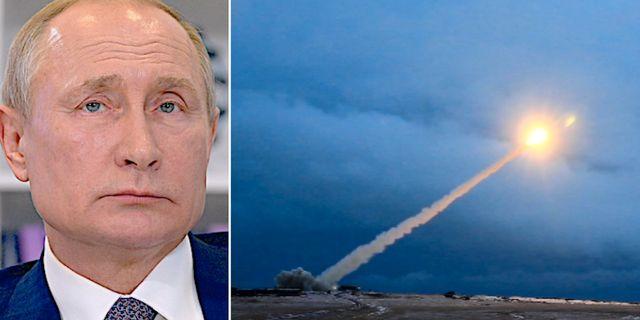 Vladimir Putin/Vad Putin 2018 sa var deras nya kryssningsrobot med kärnkraft. TT