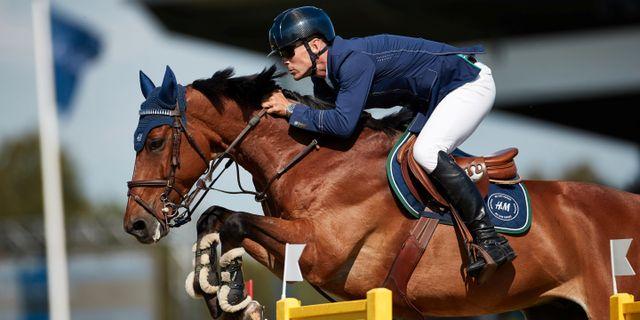 Fredricson och hästen H&M All In vinner hopptävlingen Longines Grand Prix Of Falsterbo vid Falsterbo Horse Show. TT NEWS AGENCY / TT NYHETSBYRÅN