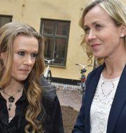 Ellinor Grimmark och hennes juridiska ombud Ruth Nordström. Jonas Ekströmer/TT