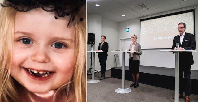Treåriga Esmeralda. Ivo:s pressträff Privat/TT