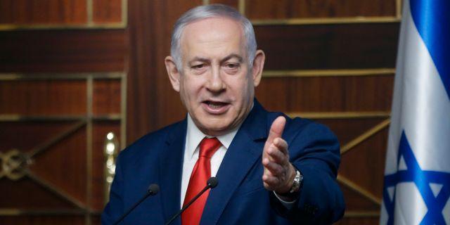 Israels premiärminister Benjamin Netanyahu. Efrem Lukatsky / TT NYHETSBYRÅN