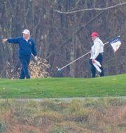 Donald Trump på golfbanan. Manuel Balce Ceneta / TT NYHETSBYRÅN