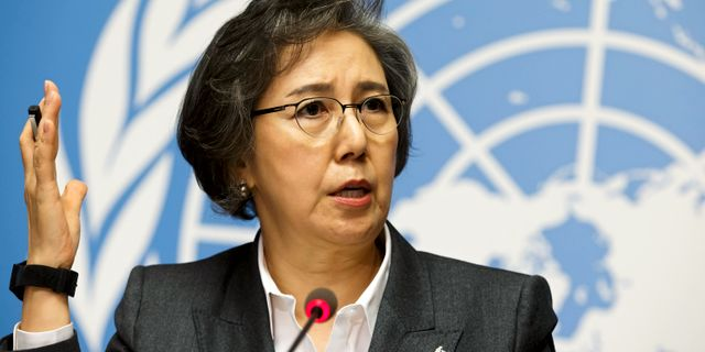 Yanghee Lee, specialrapportör om situationen för mänskliga rättigheter i Burma.  Salvatore Di Nolfi / TT NYHETSBYRÅN