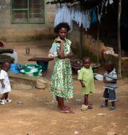 Invånare i Monrovia/Arkivbild.  Jerome Delay / TT NYHETSBYRÅN