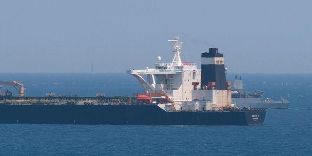 Fartyget som beslagtogs utanför Gibraltar i förra veckan.  JORGE GUERRERO / AFP