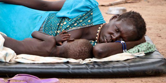 Sydsudan är ett av de länder som haft mässlingsutbrott under 2019. Sam Mednick / TT NYHETSBYRÅN
