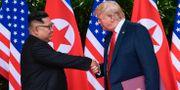 Kim Jong-Un och Trump i somras. Susan Walsh / TT NYHETSBYRÅN