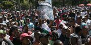 Protester på Madagaskar, 2018. RIJASOLO / AFP