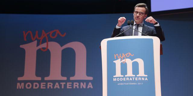 Moderaternas partiledare Ulf Kristersson (M). Kicki Nilsson/TT / TT NYHETSBYRÅN