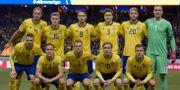 Landslaget under VM-kvalmatchen mot Italien på Friends Arena.  Anders Wiklund/TT / TT NYHETSBYRÅN