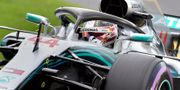 Lewis Hamilton under kvalet. PAUL CROCK / AFP