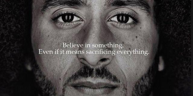 Colin Kaepernick  i Nikes kampanj Nike