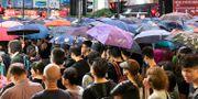 Demonstrationer i Hongkong mot den nya säkerhetslagen. Moa Kärnstrand/TT / TT NYHETSBYRÅN