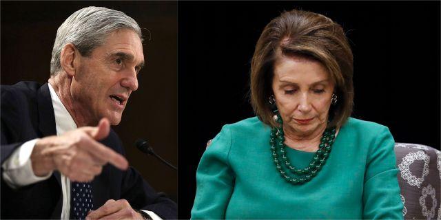 Robert Mueller och Nancy Pelosi. Montage. TT