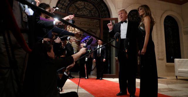 Trump i Mar-a-Lago. Evan Vucci / TT NYHETSBYRÅN