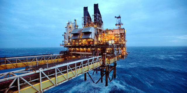 Oljeplattform i Nordsjön. Arkivbild. POOL New / TT NYHETSBYRÅN