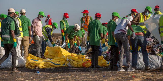 Planet kraschade utanför Addis Abeba söndag  Mulugeta Ayene / TT NYHETSBYRÅN/ NTB Scanpix