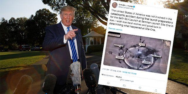 Donald Trump/en bild på hans Twitterinlägg. TT
