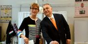 Ungerns premiärminister Viktor Orbán och hans fru Aniko Levai. Szilard Koszticsak / TT NYHETSBYRÅN/ NTB Scanpix