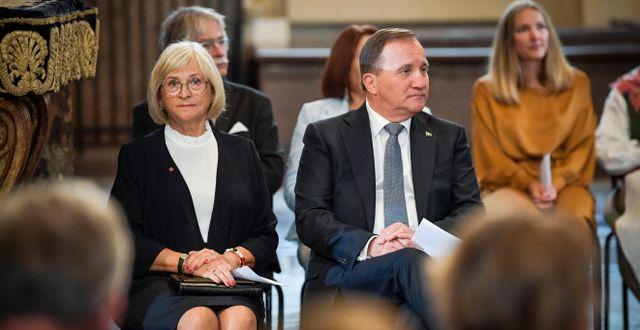 Statsminister Stefan Löfven och hans hustru Ulla. Pontus Lundahl/TT / TT NYHETSBYRÅN