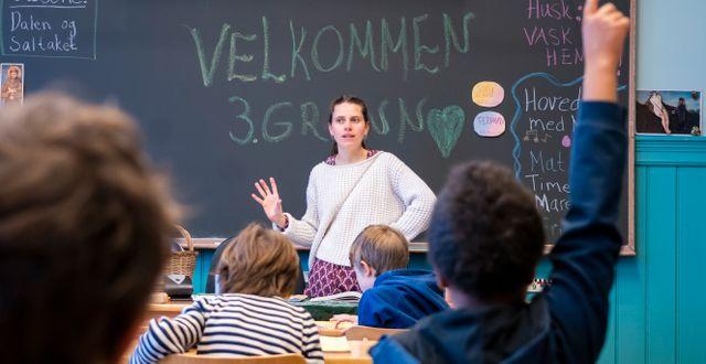 Norskt klassrum. Arkivbild. Heiko Junge/NTB scanpix/TT / TT NYHETSBYRÅN