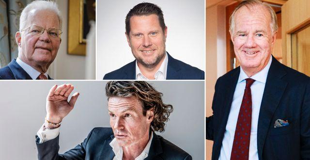 Fredrik Lundberg, Rutger Arnhult, Lars Wingefors och Stefan Persson.
