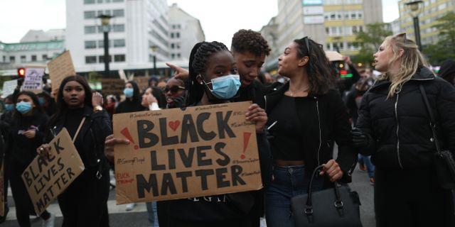 Demonstration till stöd för Black lives matter i Malmö.  Andreas Hillergren/TT / TT NYHETSBYRÅN