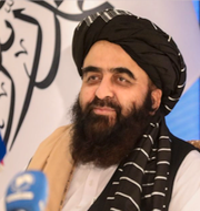 FN:s generalförsamling och talibanernas utrikesminister Amir Khan Muttaqi. TT