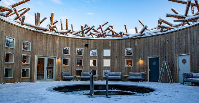 Huvudattraktionen är kallbadet som är öppet året runt. Anders Blomqvist