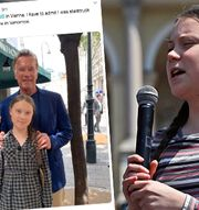 Greta Thunberg och Arnold Schwarzenegger. Twitter/TT