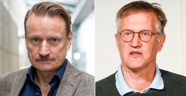 Matti Sällberg och Anders Tegnell. TT