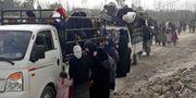 Bara igår flydde 40000 från östra Ghouta. TT / NTB Scanpix