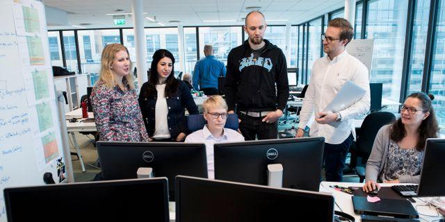 Programmerare på en arbetsplats/arkivbild.  Pontus Lundahl/TT / TT NYHETSBYRÅN