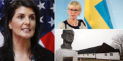 Nikki Haley, Margot Wallström och Backåkra. TT
