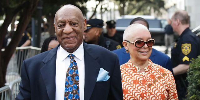 Cosby och hans fru Camille. Arkivbild. DOMINICK REUTER / AFP