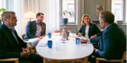 Ebba Busch Thor (KD) och Jimmie Åkesson (SD) i ett gemensamt möte.  Ebba Busch Thor på Facebook / Jimmie Åkesson på Twitter.