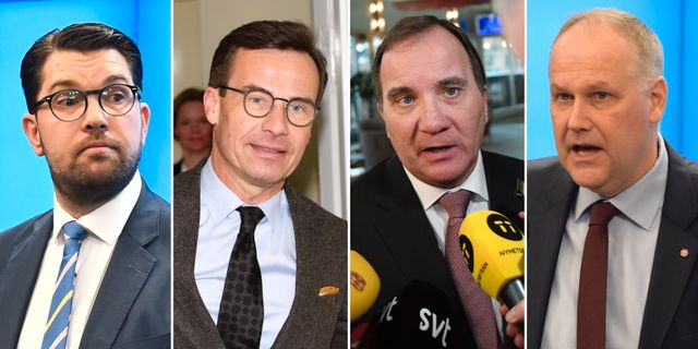 Åkesson/Kristersson/Löfven/Sjöstedt.  TT
