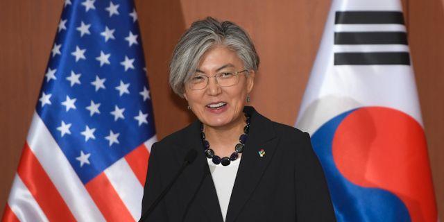 Sydkoreas utrikesminister Kang Kyung-wha.  JUNG YEON-JE / AFP