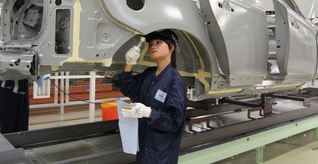 Arkivbild: Volvofabrik i Kina. KARIN OLANDER / TT / TT NYHETSBYRÅN