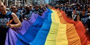 Bild från prideparaden i New York i juni i år.  Andres Kudacki / TT NYHETSBYRÅN/ NTB Scanpix