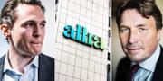 Alexander Ernstberger, före detta vd och medgrundare av Allra, och Thomas Bodström, före detta styrelseledamot i Allra.  TT