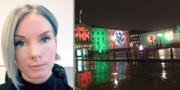 Tina Hallonsköld reagerade på det upplysta hakkorset. Privat.