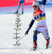 Linn Svahn på upploppet. Jens Meyer / TT NYHETSBYRÅN