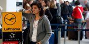 Arkivbild: resenär väntar på att resa med Lufthansa. Michael Sohn / TT NYHETSBYRÅN