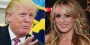 Donald Trump och Melanie Clifford.  MANDEL NGAN / AFP