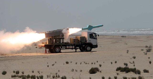 En iransk missil. TT NYHETSBYRÅN
