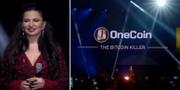 Ruja Ignatova under ett evenemang. OneCoin/Youtube