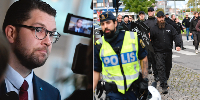 Jimmie Åkesson/Nazistisk demonstration i Göteborg. TT
